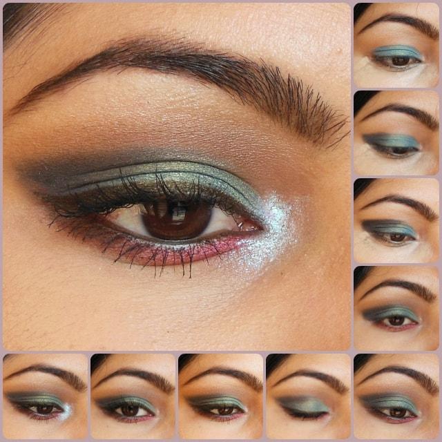Eye Makeup Tutorial - Peacock Blue Eye Look