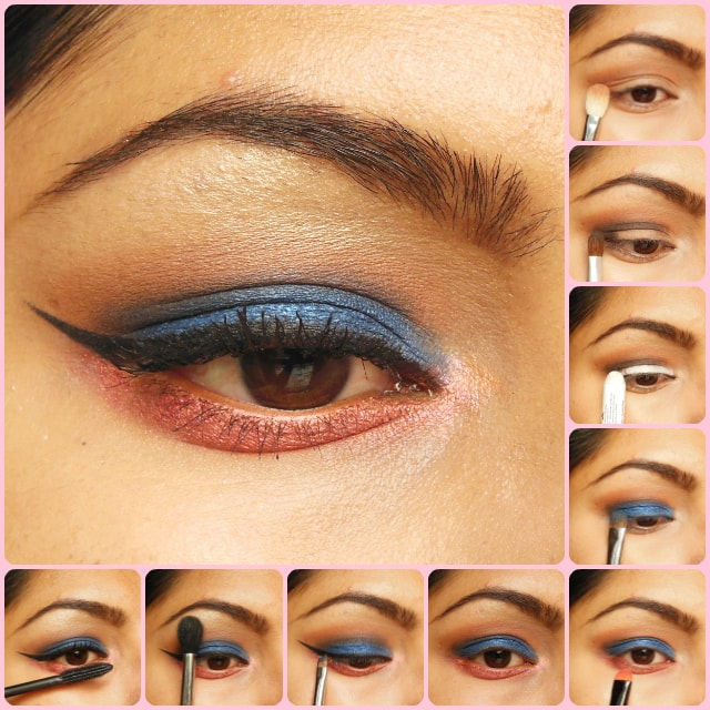 Eye Makeup Tutorial- Blue and Pink Eyes