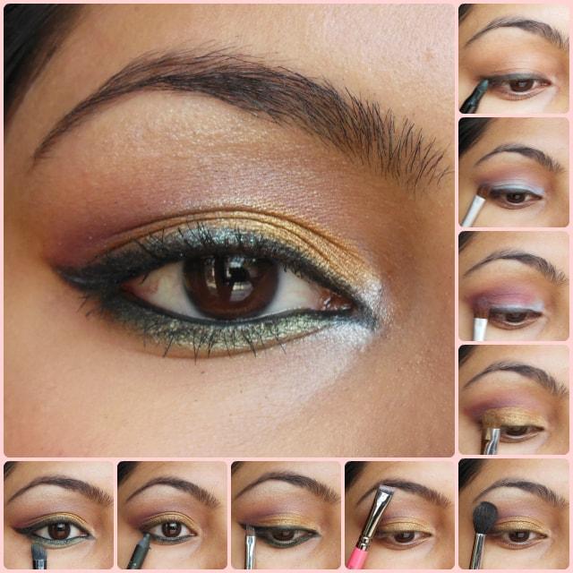 Eye Makeup Tutorial- Golden Festive Eyes