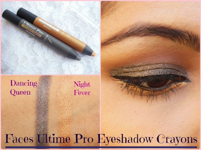 Faces Ultime Pro Eye Shadow Crayon Night Fever and Dancing Queen Look