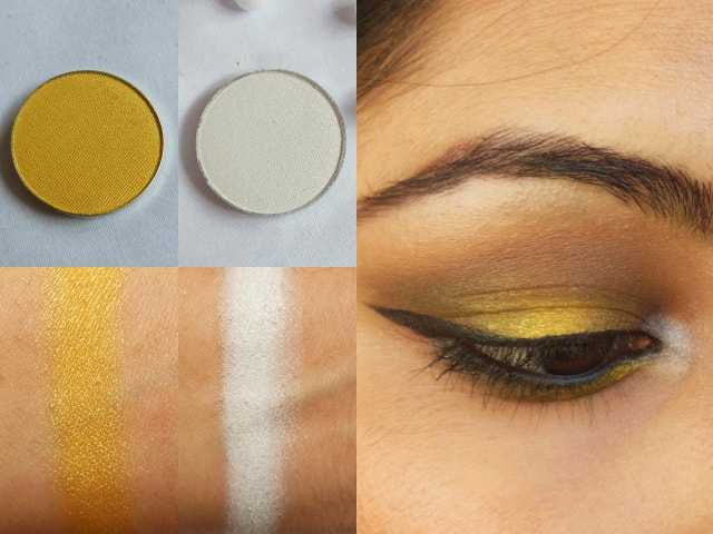 Makeup Geek Eye Shadow Lemon Drop and Ice Queen Look