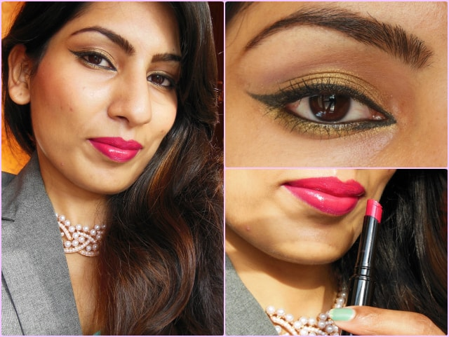 What Am I wearing Today- Golden Eyes and Pink Lips