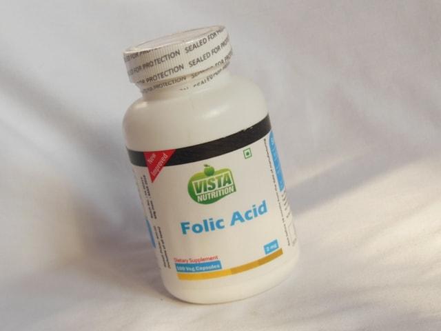 Vista Nutrition Folic Acid Supplement Vegetarian Capsules