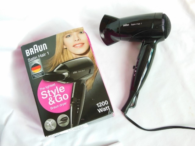 Braun Hair Satin 1 Style and Go Hair Dryer Review