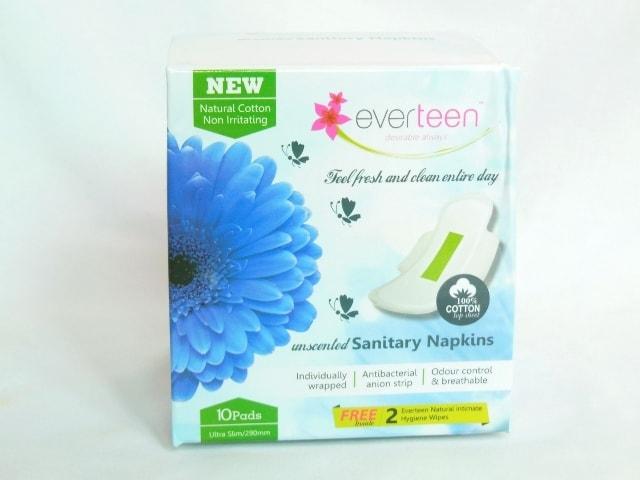 Everteen Natural Cotton Sanitary Napkins Packaging