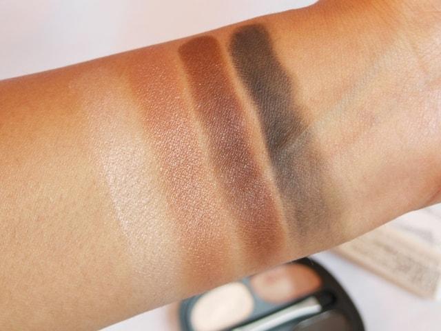 Kiko Milanno Neo Muse Eye shadow palette Mahogany Silhouette Swatch 3