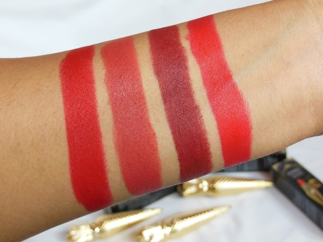 Sivanna Colors Gold Matte Lipsticks Swatch - 3, 11, 13, 15