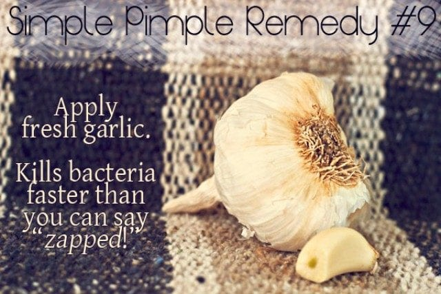 Best Home remedies to Treat Acne - Garlic Paste face pack