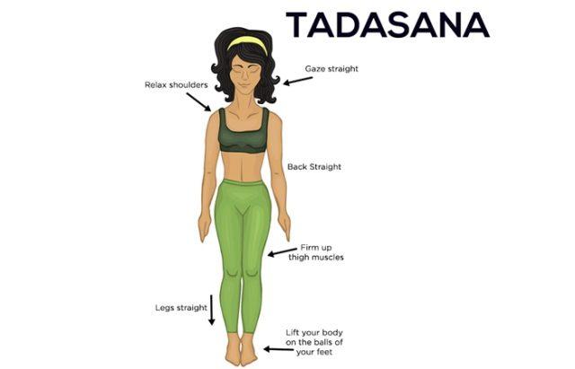 Best Yoga Asanas to reduce Belly Fat - Tadasana