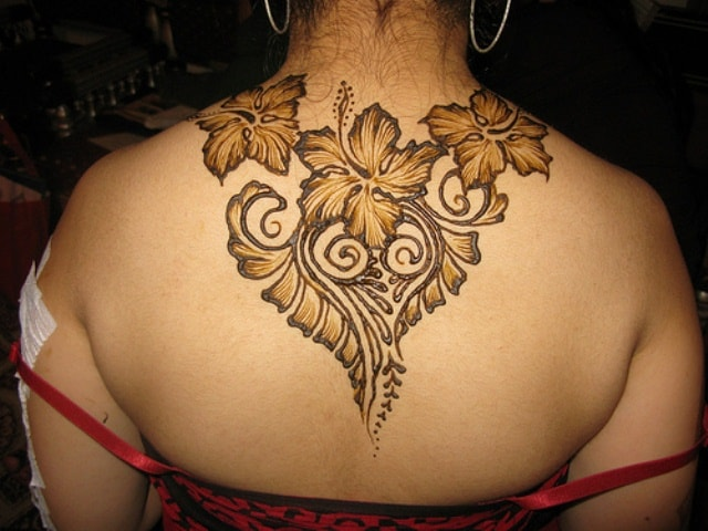 Best heena Tattoos designs for Back - Flowers