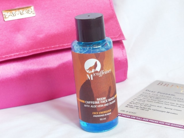 January fab Bag 2017 Products -MCaffeine Neem Caffeine Face Wash