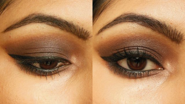 Kiko Milano Eye Shadow Palette Makeup Look - Smokey Brown Eyes