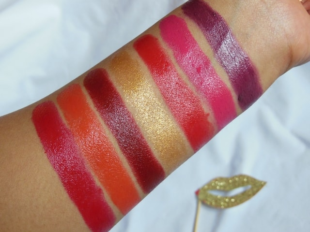 L'Oreal Paris BoldInGold Collection Lipstick Swatches