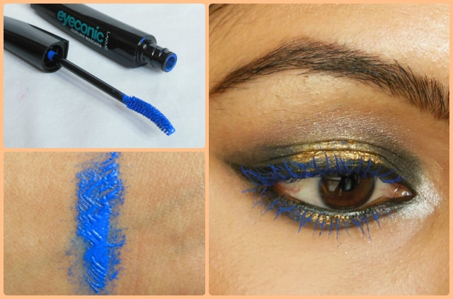 Lakme Eyeconic Curling Mascara Royal Blue Look