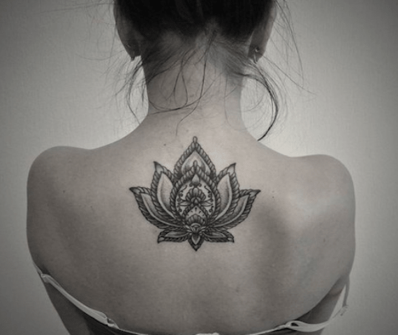 Lotus Tattoo Design for back