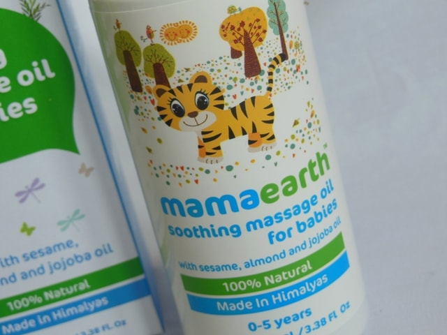 Mamaearth Soothing massage Oil for Babies Review