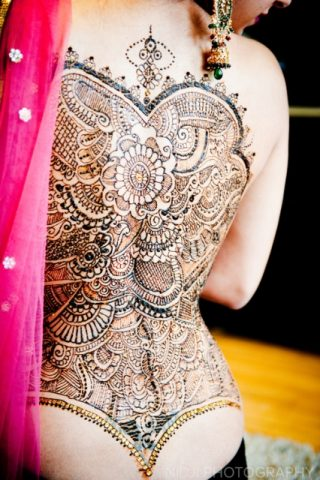Mandala Full Back Heena Tattoo Design