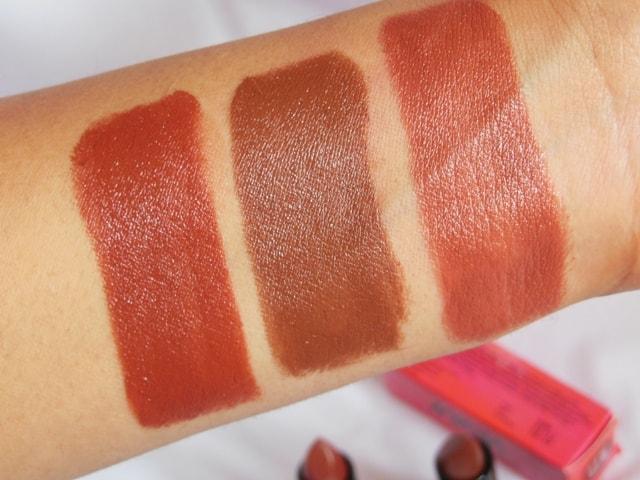 NYKAA So Matte Nude Lipsticks Swatch