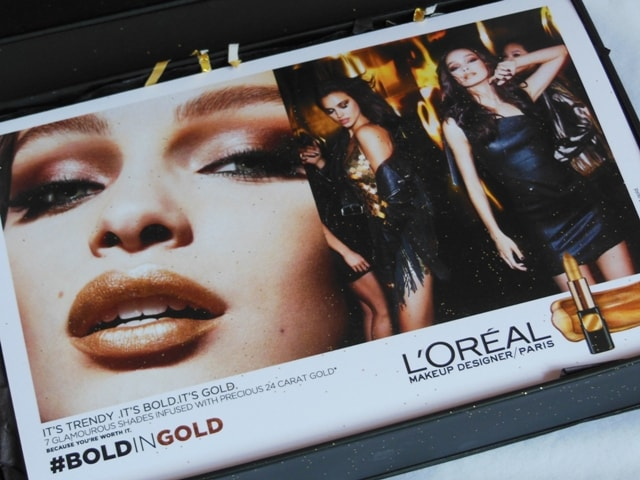 New Makeup Launch from L'Oreal Paris in India 2017 - Bold in Gold Collection