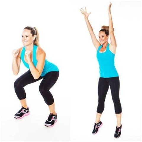 Top 10 Cardio Workouts for Weightloss at Home - Squat Jumps