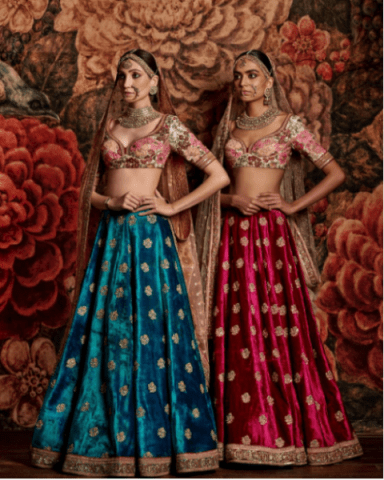 Where to Buy Bridal Lehenga in Delhi - Chandni Chowk sabyasachi-bridal replica