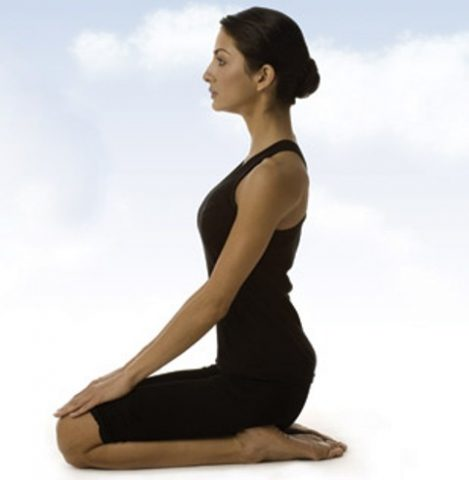 Yoga Poses for Hair Loss - Vajrasana