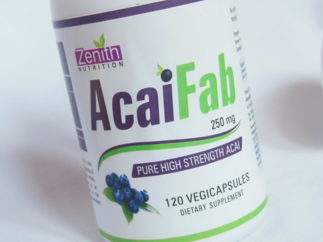 Zenith Nutrition Acai Fab Supplement Capsules review
