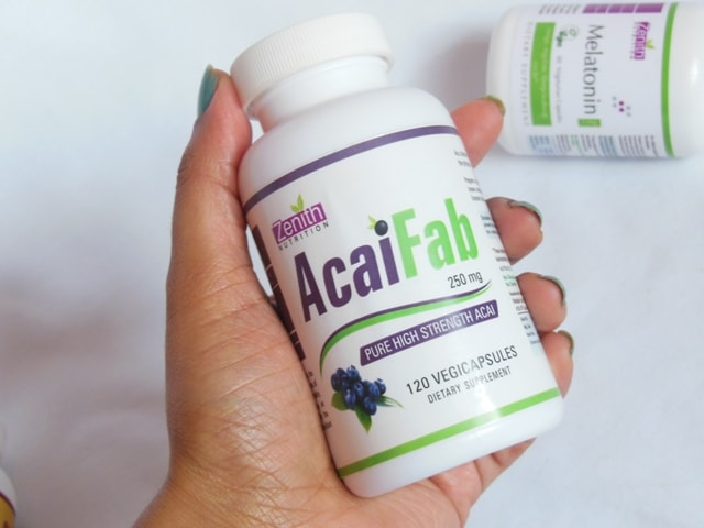 Zenith Nutrition Acai Fab Supplement Vegetarian Capsules