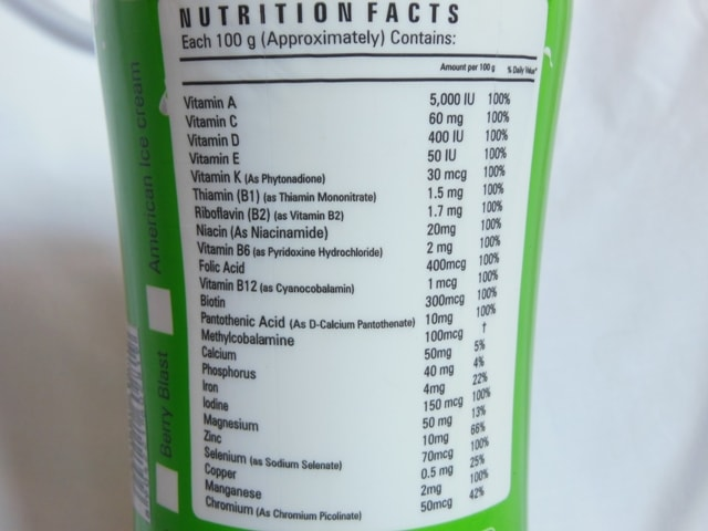 Zenith Nutrition Slim Shake Supplement Details
