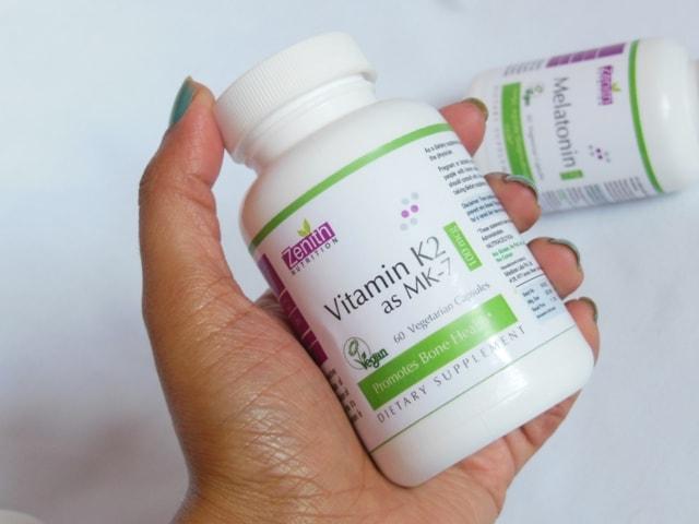 Zenith Nutrition Vitamin K2 as MK-7 Supplement vegetarian Capsules