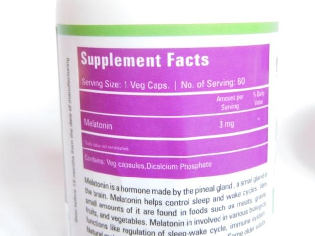 Zenith Nutrition melatonin Supplement Capsules Details