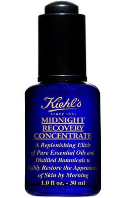 Best Facial Oils for Oily skin - Kiehl's midnight Recovery Concetrate