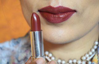 Maybelline Creamy matte Lipstick Divine Wine Lip Swatch