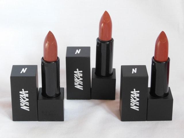NYKAA So Matte Nude Lipsticks Packaging