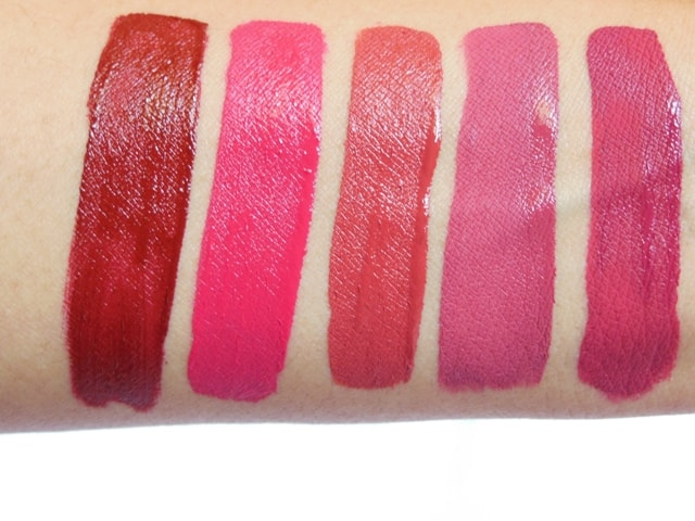 Sugar Smudge Me Not Liquid Lipsticks Swatches - Fresh