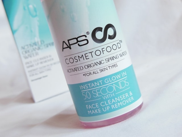 APS Cosmetofood Activated Organic Spring Water Review