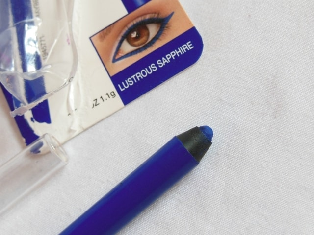Maybelline Eyestudio Lasting Drama Waterproof Gel Pencil Lustrous Sapphire Review