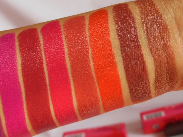 NYKAA PaintStix Lipsticks Swatches 1-min