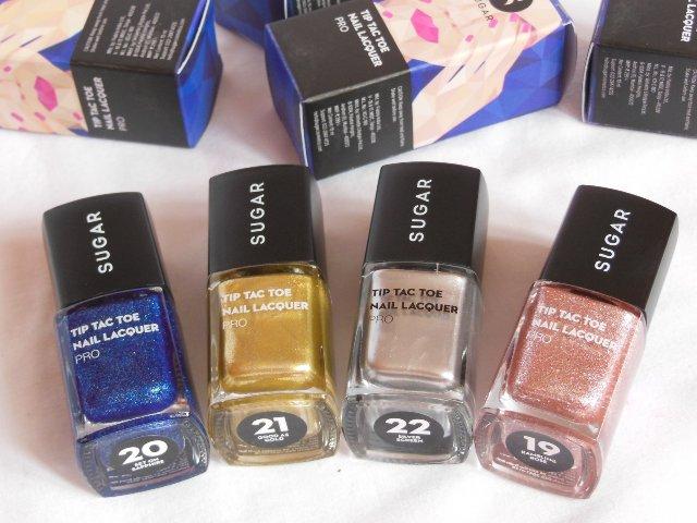 Sugar Cosmetics Tip Tac Toe Nail Lacquer Collection Pro Shades