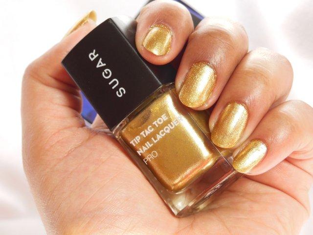 Sugar Cosmetics Tip Tac Toe Nail Lacquer Pro - Good As Gold Shade Nails