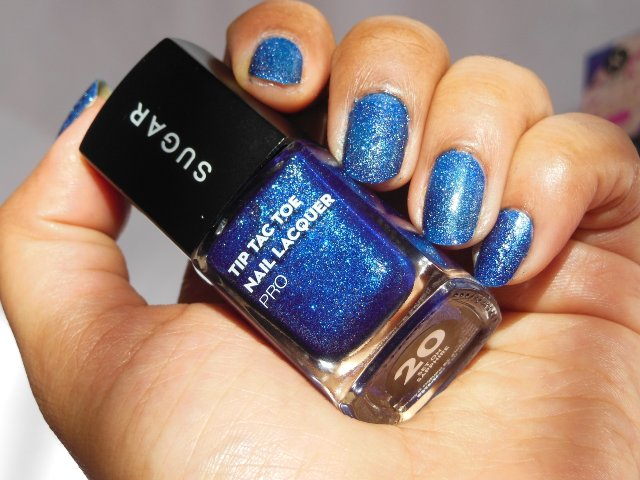 Sugar Cosmetics Tip Tac Toe Nail Lacquer - Set on Sapphire Swatch