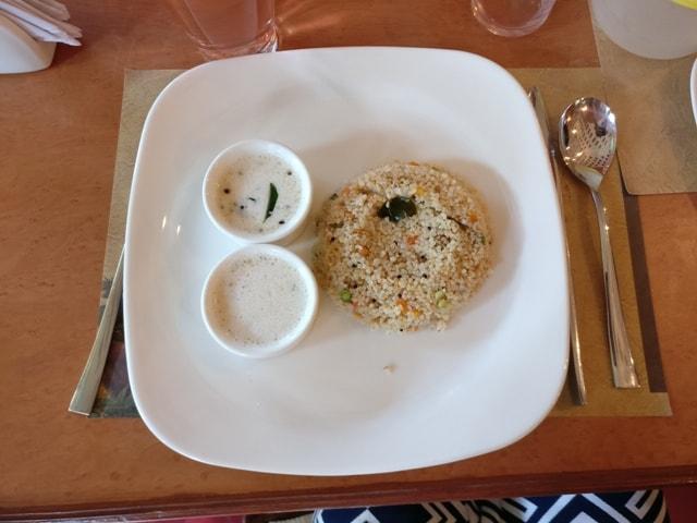 Food at Kairali Health Spa and Resort