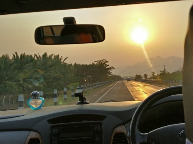 On our way to Kairali Village Palakkad