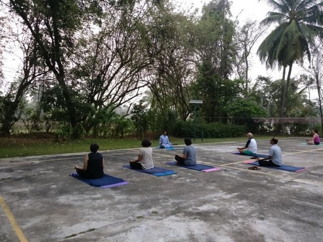 Yoga at Kairali Healing Village