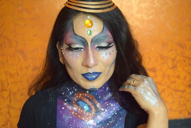 NYX Face Awards India 2017- Galaxy Princess Alien