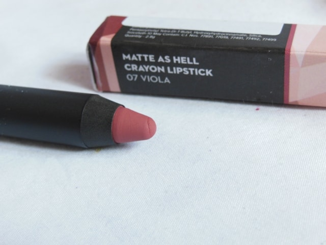 New Sugar Matte As Hell Crayon Lipstick - Viola