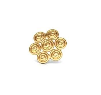 swirl Gold Nose Pin - Caratlane