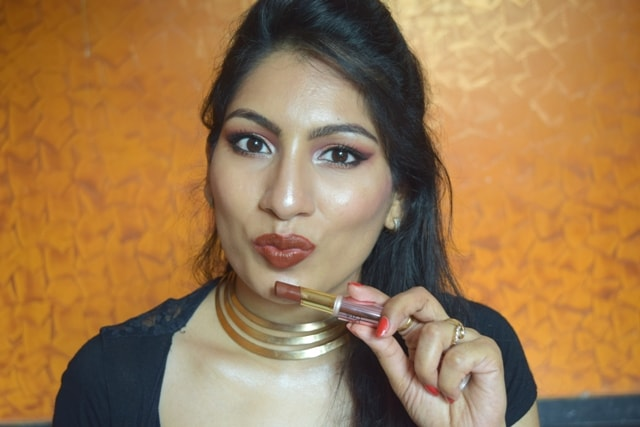 Lakme 9to5 Primer + matte Lipstick - Cherry Chic Lip Swatch