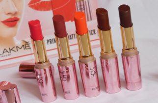 Lakme 9to5 Primer + matte Lipstick Shades