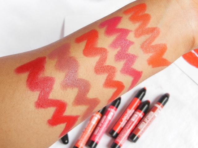 New Lakme Enrich Lip Crayons Swatches